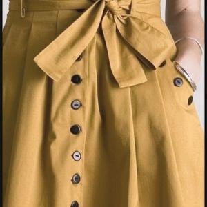 Gap Long Button up Skirt